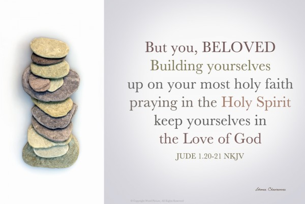 What does it mean to pray in the Holy Spirit (Jude 1:20)? Paul also says something similar when he says, Nobody can say, Jesus is Lord, except in the Holy Spirit (1 Cor. 12:3). [in the picture: Jude 1:20-21]