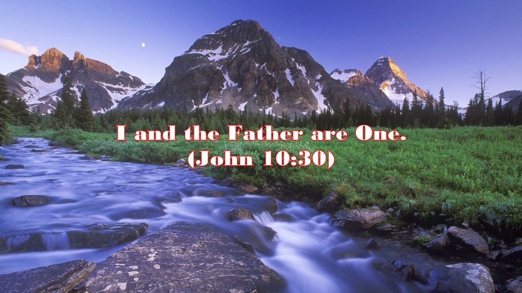 As a Man of Prayer, the Lord Jesus was always One With God (John 10:30). How about us? Are we always one with God? Christ was not merely praying to the Father, but in everything He did and said, He was one with the Father. [In the picture: John 10:30, I and the Father are One]