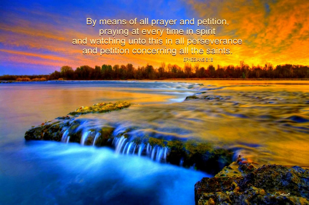 Exercising to Pray Unceasingly by Calling on the Lord and Talking to Him [In the picture: Eph. 6:18]