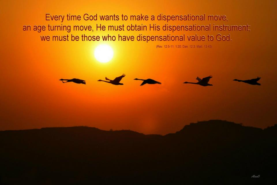 Does Your Life Have A Dispensational Value To God A