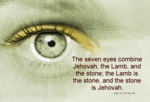 The seven eyes combine Jehovah, the Lamb, and the stone; the Lamb is the stone, and the stone is Jehovah (Zech. 3:9; 4:10; Rev. 5:6).