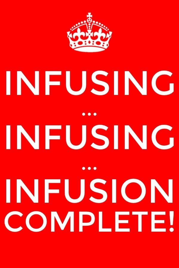 Infusing... Infusing... Infusing... until the Infusion with God is Complete - in the New Jerusalem!