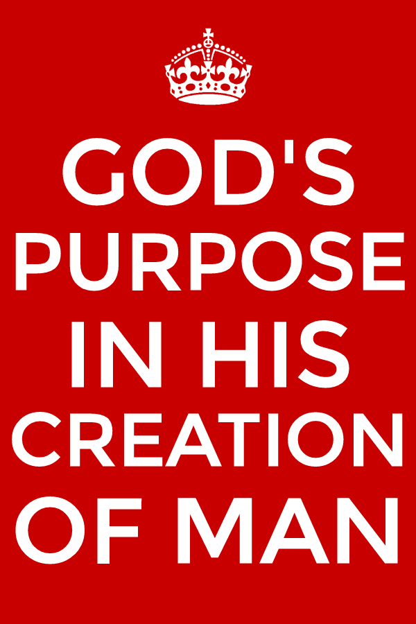 Seeing god s purpose in creating man and cooperating with god to