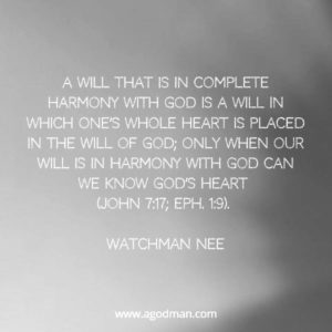 Our will must be Subdued to be in Harmony with God for Christ to Increase in us