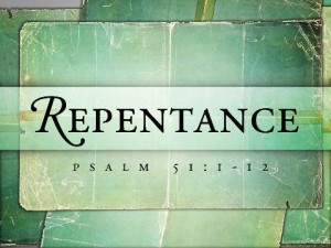 our repentance and confession marries God's forgiveness to produce something for God's building