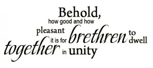 the saints' living together in oneness in the church life is blessed by God