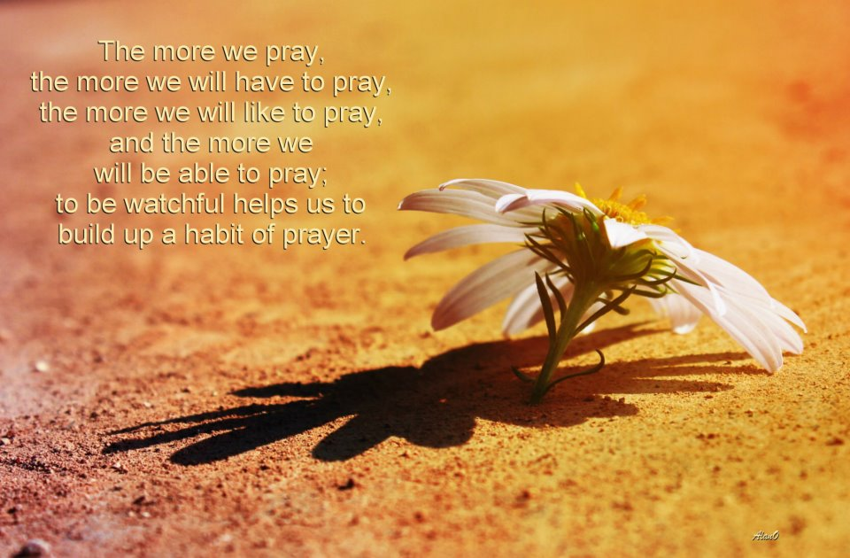 Watching in Prayer with Thanksgiving and Having Prayer Companions [In the picture: The more we pray, the more we will have to pray, the more we will like to pray, and the more we will be able to pray; to be watchful helps us to build up a habit of prayer. ]