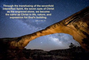 Being Infused with God to Become the Same as He is for God's Building