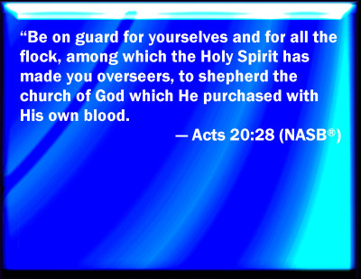 The Church was Obtained Through God's Own Blood [Acts 20:28]