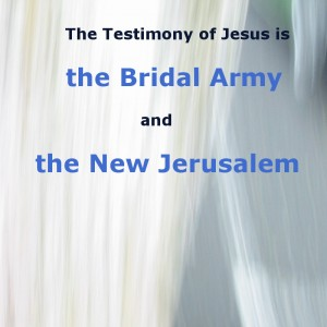 The Testimony of Jesus is the Bridal Army (Rev. 19) and the New Jerusalem (Rev. 21)