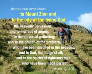 In our Spiritual Experience Mount Moriah Becomes Mount Zion, the Reality of the Body