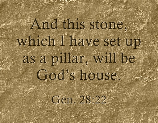 The Stone, the Pillar, the House of God, and the Oil in Gen  28