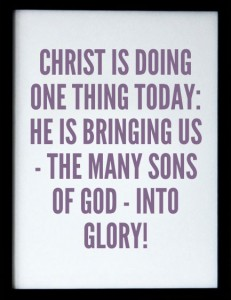 Christ is Leading the Many Sons of God into Glory to be God's Expression Corporately