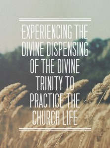 Experiencing the Divine Dispensing of the Divine Trinity to Practice the Church Life