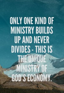 Holding Christ as the Head and Teaching the Unique Ministry of God's Economy