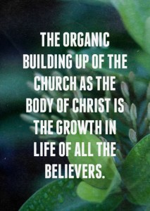 The Building up of the Body of Christ is the Growth in Life of All the Believers