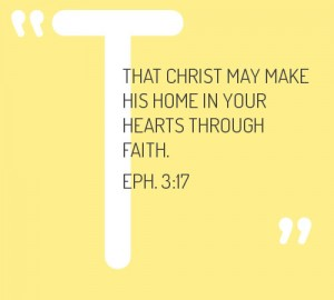 Allowing Christ to Make His Home in our Heart for the Building up of the Church