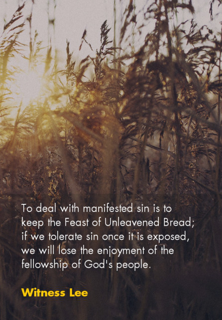 Keeping the Feast of the Unleavened Bread by Eating Christ