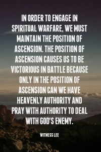 Engaging in Spiritual Warfare by Being in Ascension and Proclaiming Christ's Victory