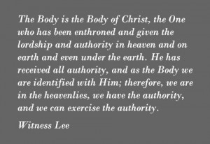 Being One with our Ascended Head to Exercise His Authority as the Body of Christ