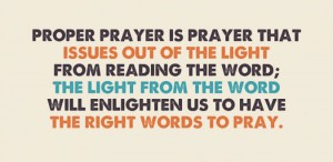 Proper Prayer (burning the incense) issues out of God's Light from Reading the Word