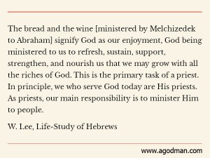 Being Genuine Priests to God by Serving God and Ministering God into God's People