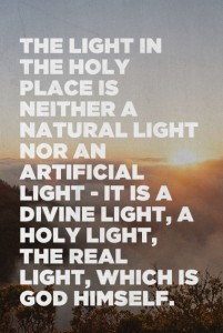 Coming into God's Light and Walking in it to have God as Light Shining in our Meeting
