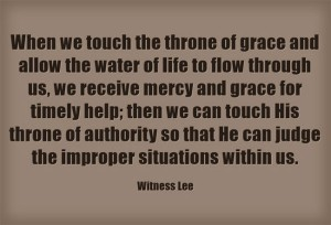 As Priests we Come Forward to the Throne of Grace to Receive Mercy and Find Grace