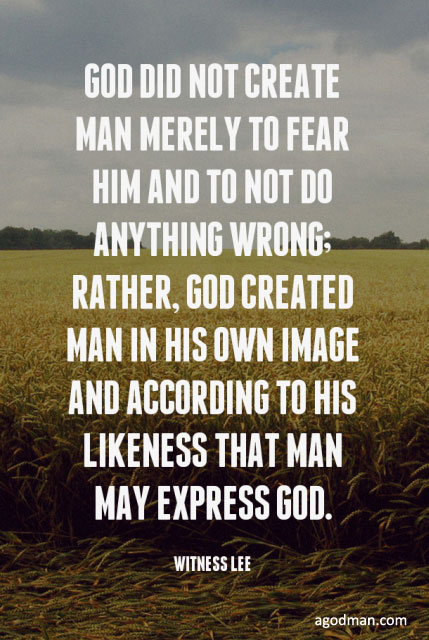 God Doesn't want a Good Man but a God-man filled with God