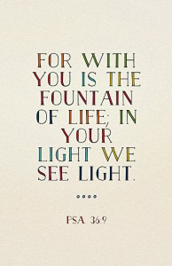 Only in God's Light we see Light: We see what God Sees, the True Condition of Things