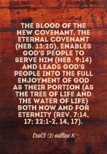 The Blood of the Covenant is Primarily for God to be our Portion for our Enjoyment