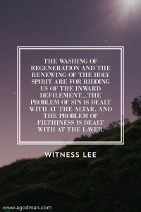 The Secret of our Functioning as Priests is being Washed by the Life-Giving Spirit