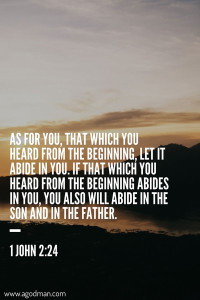 The Inward Teaching of the Anointing adds God to our Being for us to Abide in Him