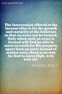 Growing in Life unto Maturity to be Formed as an Army to Fight the Spiritual Warfare