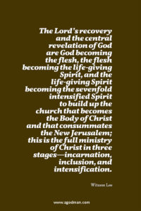5 Critical Points concerning the Spirit of God in the Move of God's eternal Economy