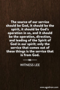 Cooperating with the Inner Operating and Motivating God by Outwardly Serving Him