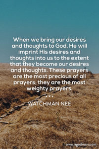 God needs Man to Exercise his Spirit and his Will to Pray according to God's Will