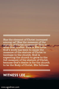 The Church is the Body of Christ; the Growth of the Church is the Growth of Christ