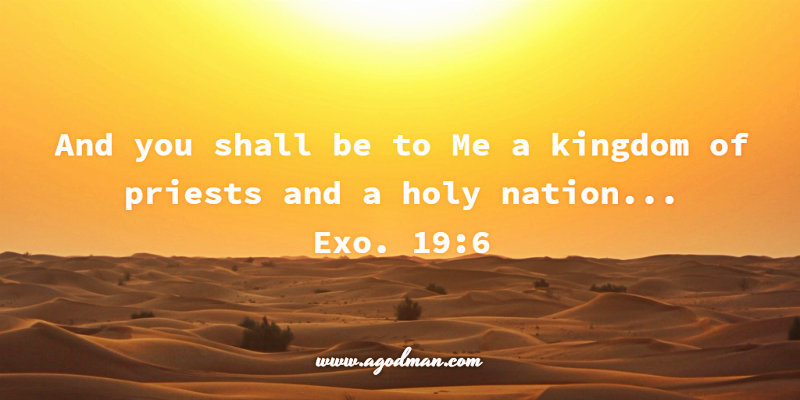 Exo. 19:6 And you shall be to Me a kingdom of priests and a holy nation...