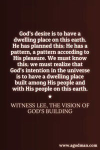 Serving God according to the Vision of God and the Pattern Shown on the Mountain