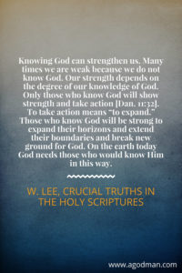 know God experientially Archives - A God-man in Christ