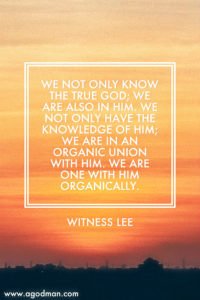 We know the True One by Enjoying the Divine Reality and by being One with Him