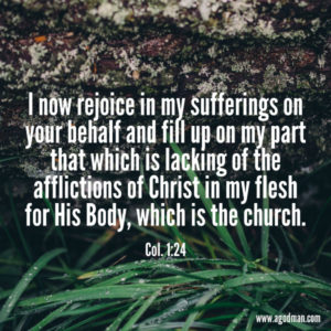 Entering the Fellowship of the Lord's Sufferings for the Church to be His Testimony