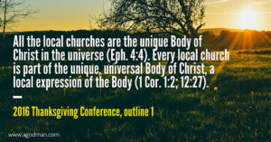 The Lord's Recovery is for the Building up of the Universal Organic Body of Christ