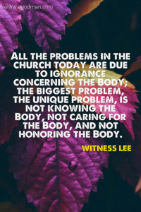Knowing and Caring for the Body of Christ, the Intrinsic Significance of the Church