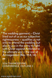 Christ will come as the General with His Bride to Fight against Antichrist at Armageddon