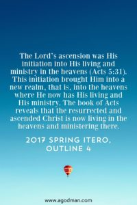 God Exalted Christ in His Ascension and made Him Lord of All, the Christ, and the Leader