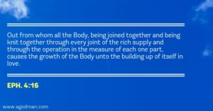 The Increase of Christ in us is for the Building up of the Body of Christ in Love