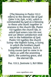 We need to Enjoy the Eternal Blessing of the Triune God and the Blessing of Life