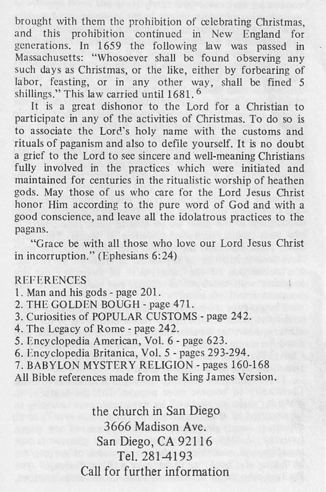 Christmas explained - gospel tract via, Church in San Diego, CA, USA - page 4